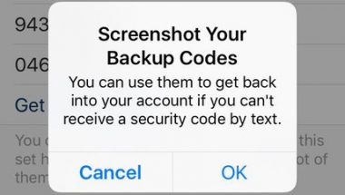 Using Backup Codes Without a Cellphone