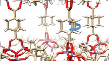 Gyroscope Molecules Form Crystal Both Solid and Full of Motion