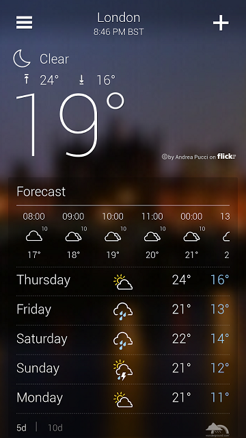 Best Android Weather Widget Yahoo Weather