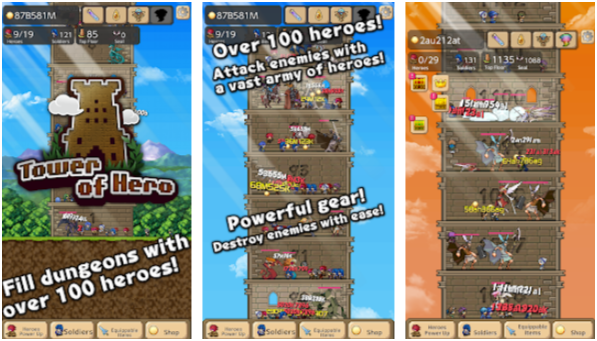Best Idle Games Android Tower of Hero